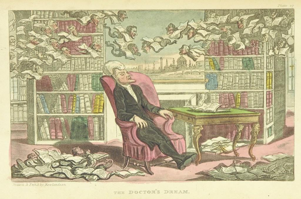 The Doctor's Dream, artist Thomas Rowlandson (1757–1827) and the writer William Combe (1742–1823). Source: archive.org.